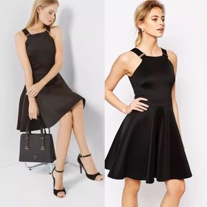 $279 Ted Baker Jaimie Skater Dress Size 2 US Small